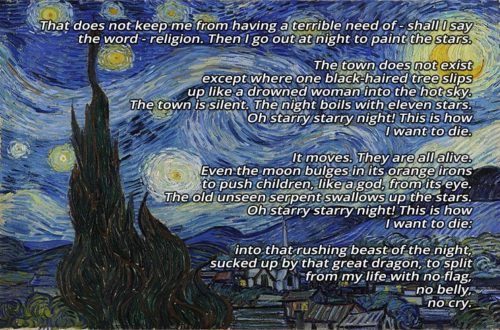 The Starry Night - Anne Sexton