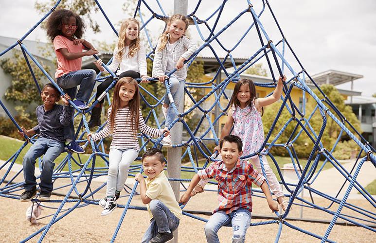 kids climbing playground net