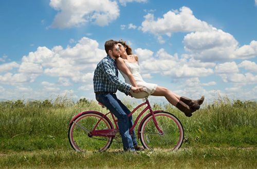 lovers on bike